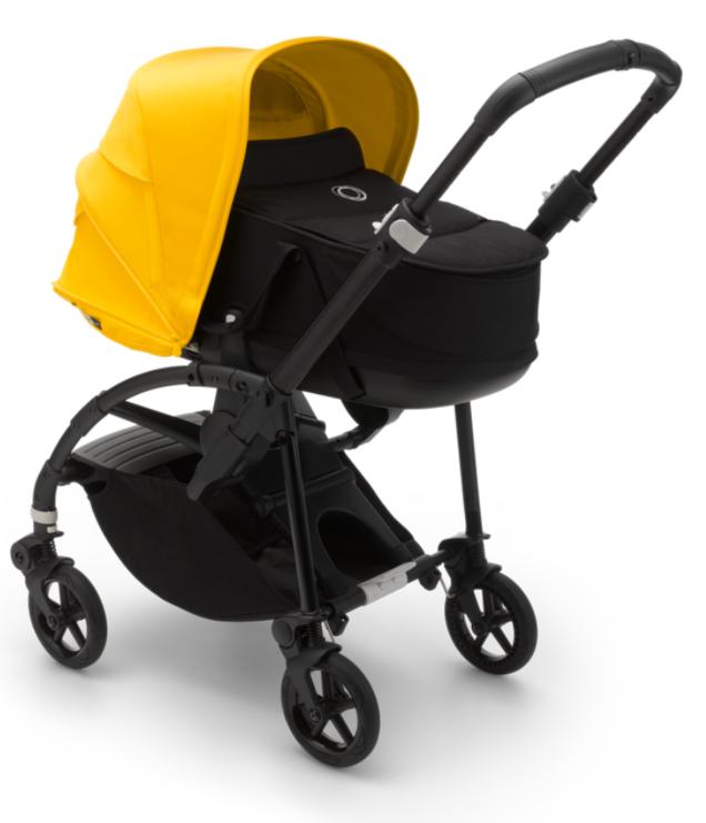 בוגבו בי 6 צבע עגלה בי 6: מרכב: שחור, גגון: צהוב לימון, מושב ועריסה: שחור